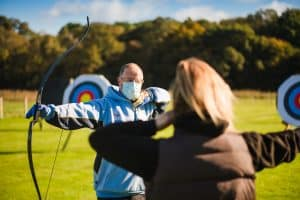 Volunteer at archery range
