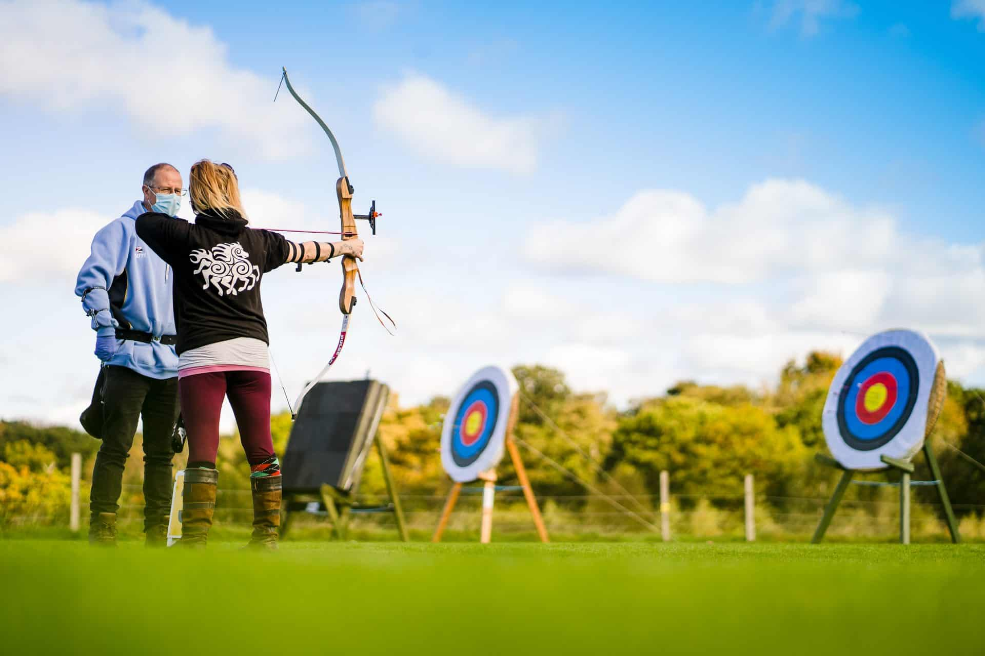 Archery at outdoor range
