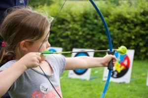 Girl with Arrows kit at Saltram, National Trust