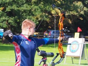 Jamie Harris shooting at Lilleshall National Sports Centre