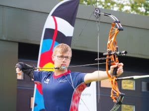 Jamie Harris shooting at the Disability Championships