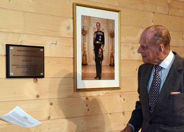 Prince Philip at Windsor Forest Bowmen