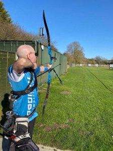 Colin Simpson back to the archery range