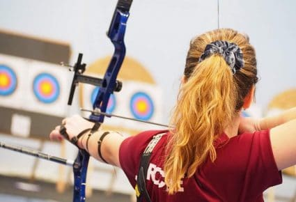 Archer at a competition