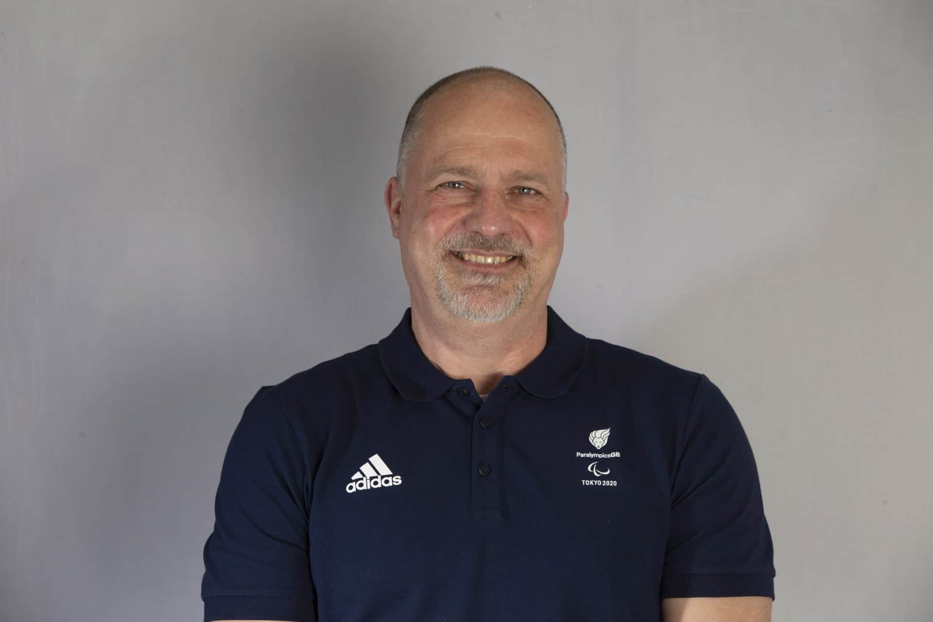 Dave Phillips in ParalympicsGB selection shirt