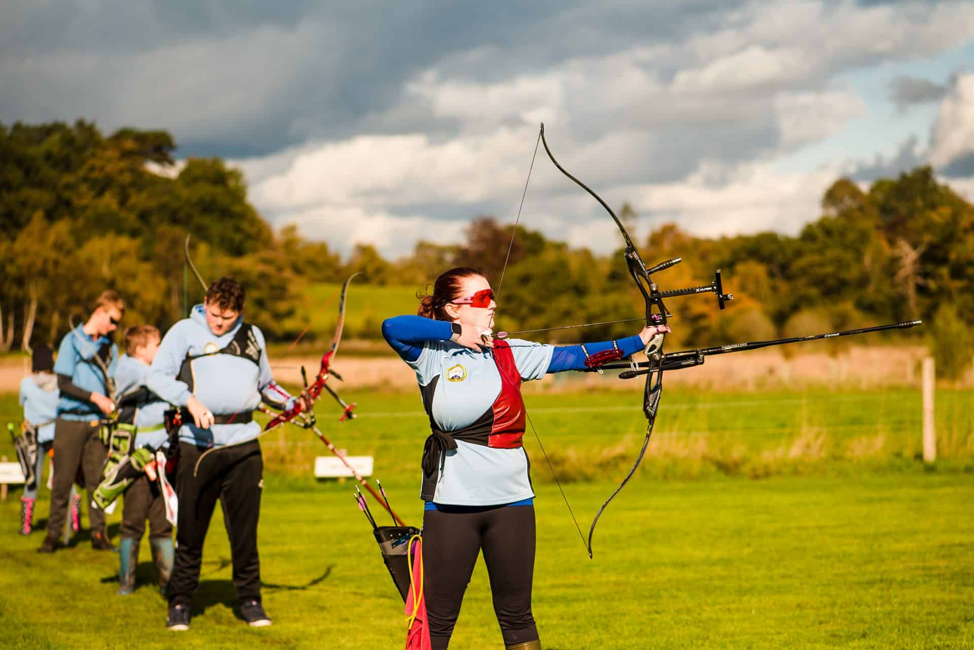 Archers at the outdoor range