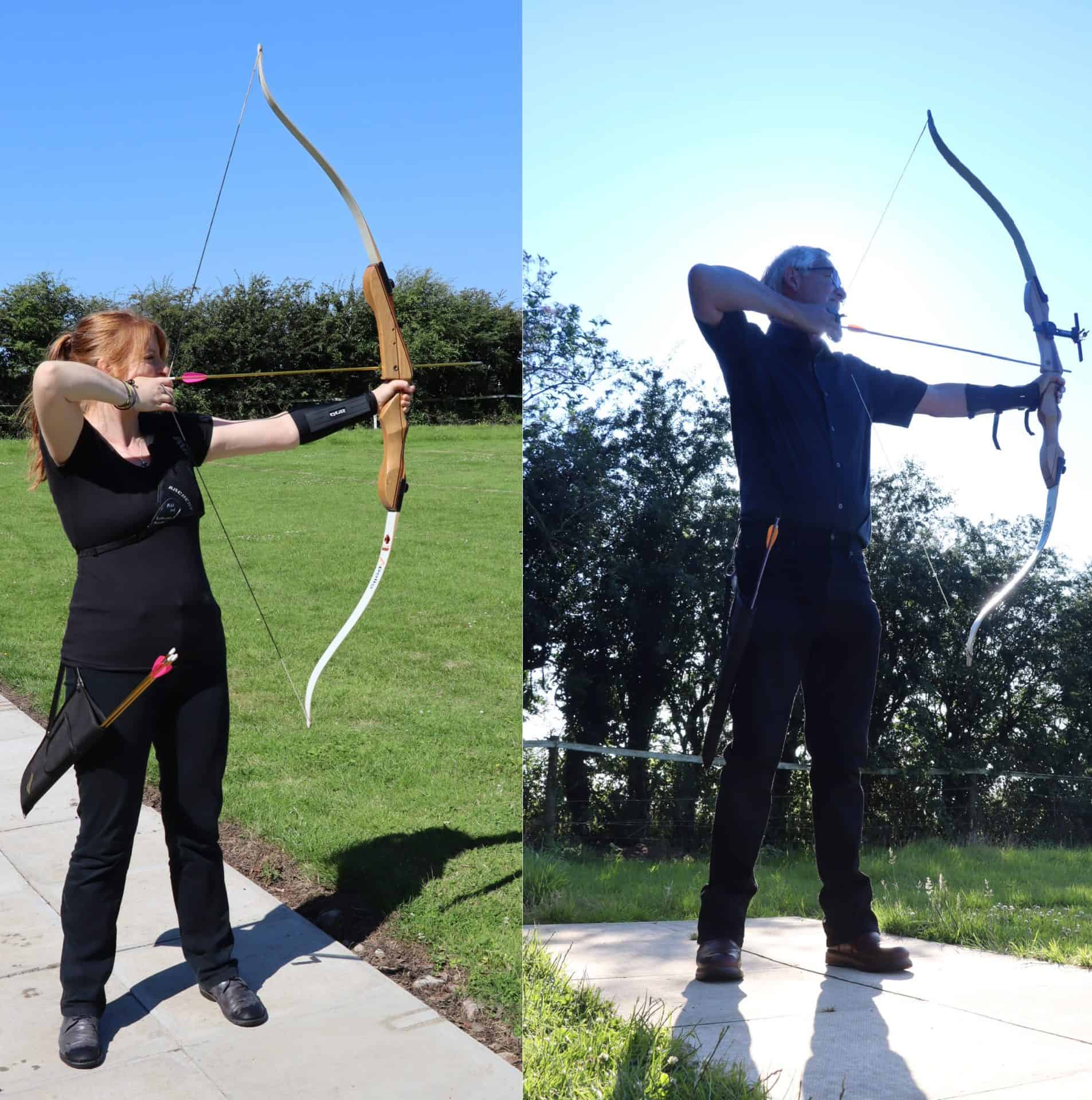Archers on beginners course