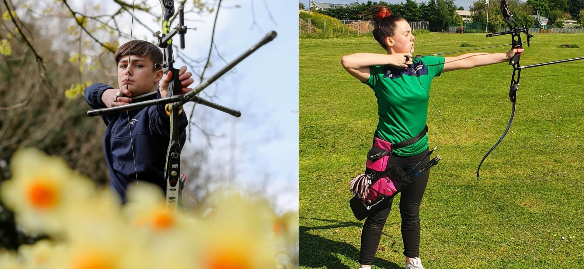 Young archers Jack Doherty and Evie Barker