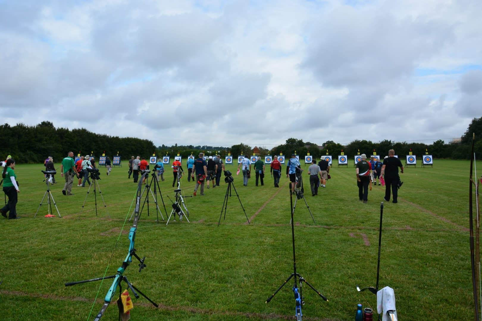 Archers at a competition
