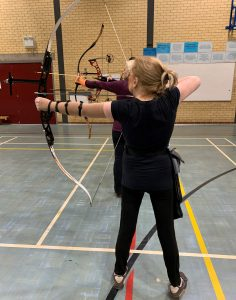 Disabled female archer