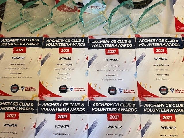 Archery GB certificates and awards